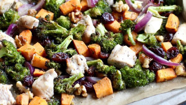 Sweet Potato Broccoli Sheet Pan Recipe